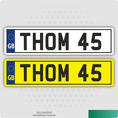 2 X Kids Personalised Number Plates Toy Children Ride On Self Adhesive Sticker • 2.48£