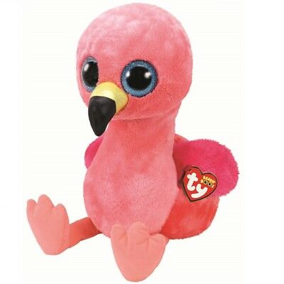 Ty Beanie Boos 36892 Gilda The Pink Flamingo Boo Large • 29.95£