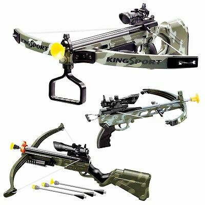 Children Infrared Crossbow Gun Set With Arrows Target Kids Play Archery Toy Gift • 11.99£