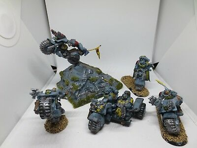 Warhammer 40K Space Wolves Bike & Attack Bike Squad Space Marines Painted G84 • 29.99£
