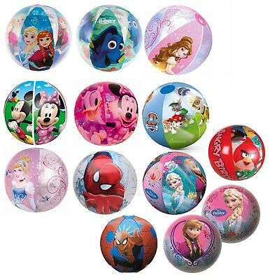 Licensed Character Beach Ball Inflatable Blowup Toy Kids Beach Pool Water Sport • 3.29£