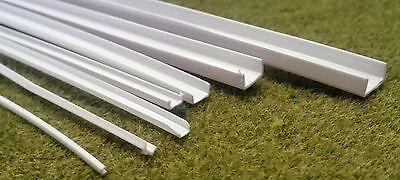 Channel (U Shape) Styrene ABS Strip Section Architecture Model Making • 1.75£
