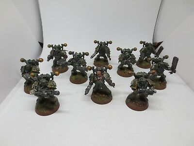 Death Guard Chaos Space Marine Squad (10) Forgeworld Conversions Painted G178 • 29.99£