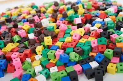 100 X 1cm Cubes - Counting Interlocking Snap Building Maths Home Early Learning  • 5.95£