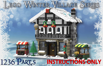 Lego Winter Village Tavern -INSTRUCTIONS ONLY- Fits 10216 10222 10249 10199 Etc • 4.95£