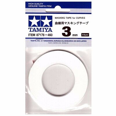 Tamiya Masking Tape For Curves 3mm - 20m Roll - Tools / Accessories • 3.99£