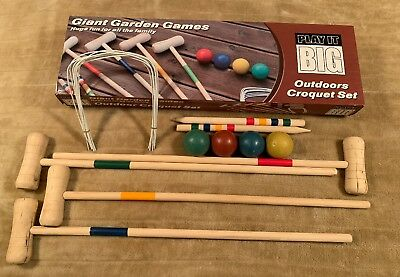 Giant Garden Games Outdoor Croquet Set • 65£