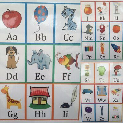 A-Z Alphabet Flash Cards Set Educational Learning Picture & Letter Card Pack  • 4.99£