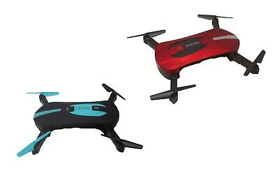 Mini Foldable Pocket Drone Quadcopter 4 Axis 2.4G WIFI JD-18 With Video Camera • 19.99£
