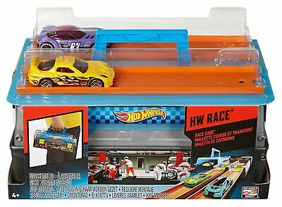 Hot Wheels Car Race Case Track Launcher Toy Playset • 12.99£