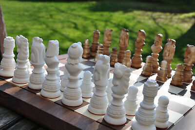 EXCLUSIVE CHESS SET Hand Carved  ART Pieces OTTOMAN EMPIRE ART CHESS SET • 112.86£