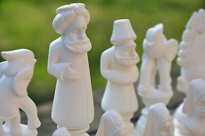 EXCLUSIVE CHESS SET Hand Carved  ART Pieces OTTOMAN EMPIRE ART CHESS SET • 208.08£