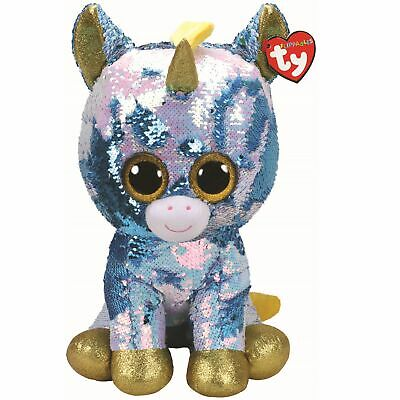 Ty Beanie Flippables 36761 Dazzle The Unicorn Sequin Flippable Large • 33.11£