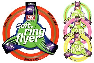 Coloured Flying Frisbee Soft Ring Flyer Dog Puppy Play New Pet Outdoor Disc Toys • 5.99£