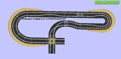 Scalextric Digital Track Super Chaos Corner Extension Kit 2 • 120£