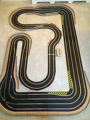 Scalextric Digital 4 Lane Layout With Chicanes / Hairpins & 4 Digital Cars  • 450£