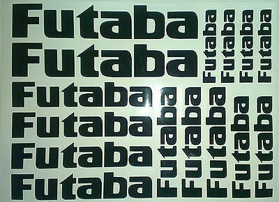 15 X Futaba Stickers Decals For R/C Plane,Heli,Car,Boat. Fuel/Water Proof • 4.99£