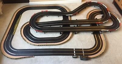 Scalextric Sport Layout With Twin Bridge / Large Flyovers / Chicanes & 2 Cars • 320£