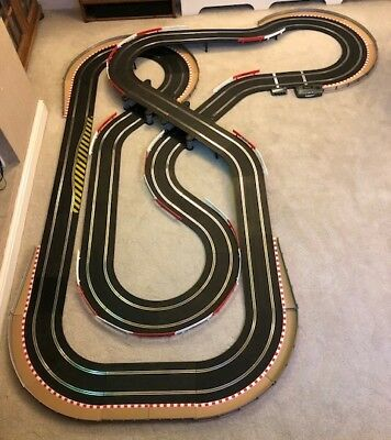 Scalextric Sport Layout With Lap Counter / Double Bridge / Chicanes & 2 Cars  • 235£