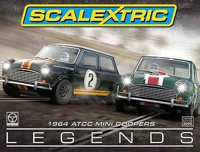 Scalextric Limited Edition 1964 Australian Mini Cooper Touring Car Legends C3586 • 120£