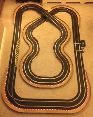 Scalextric Sport Layout With Bridge / Corner Xovers / Lap Counter & 2 Cars  • 195£