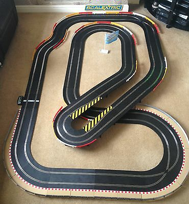 Scalextric Sport Large Layout With Flyover / Hairpin / Corner Xovers & 2 Cars • 195£