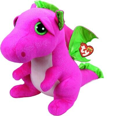 Ty Beanie Boos 37071 Darla The Pink Dragon Boo Large • 29.95£