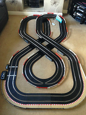 Scalextric Sport Large Layout With Double Flyover / Lap Counter & 2 Cars • 195£