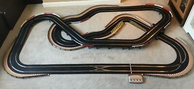 Scalextric Digital Layout With Lane Changer / Corner Xovers / Hairpin & 2 Cars  • 335£