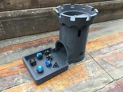 Castle Dice Tower For Traditional & Role Playing Table Dice Games E.g. D&D RPGs  • 16£