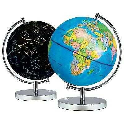 Science Kidz 2 In 1 Illuminated World Globe Light Up Constellation Night Lamp • 24.99£