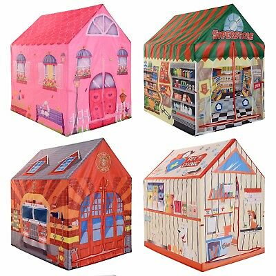 Childrens Designed Play Tent Indoor Outdoor Fun Playhouse Girls Boys Role Play • 17.99£