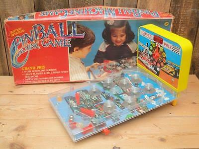 Vintage Butoy Grand Prix Pinball Machine Game Lights Bells Battery Operated • 25£