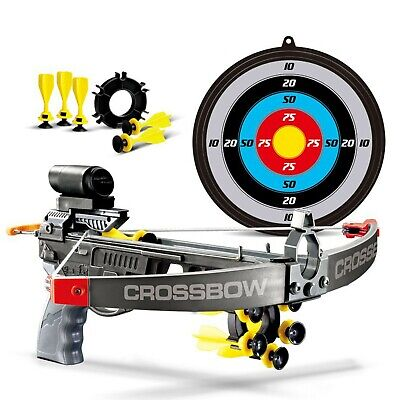 Kids Infrared Crossbow Set With Bolts Target Gun Archery Shooting Garden Toy Fun • 10.99£