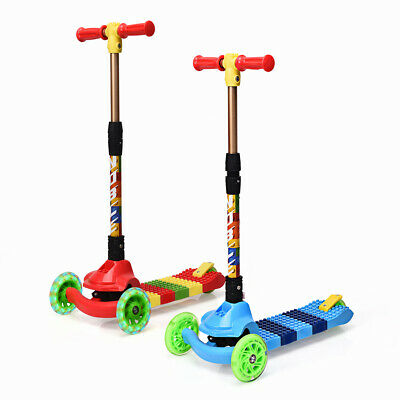 2-in-1 3 Wheels Kids Scooter & Ride-On Balance Bike Trike Adjustable Bar Toys • 33.99£
