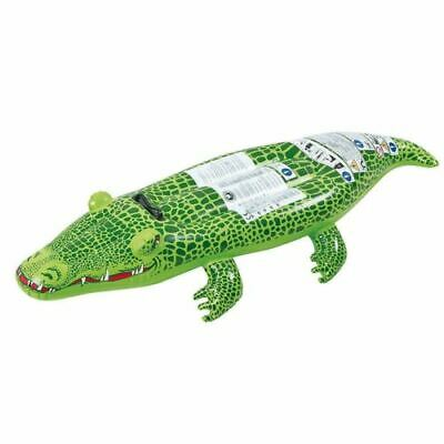 XL Crocodile Inflatable Lilo Air Lounger Mat Bed Swimming Pool Ride Float Rubber • 8.99£