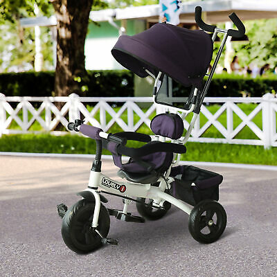 HOMCOM Kids Ride-on Tricycle With Sun Canopy, Parent Handle • 64.99£
