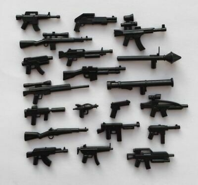 Lego Guns Set 20 Black Custom Weapons For Minifigure  • 3.99£