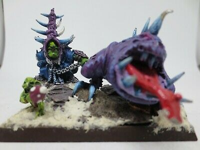 Warhammer Orcs & Goblins Skarsnik Lord Of The Eight Peaks & Gobbla Metal OOP G62 • 39.99£