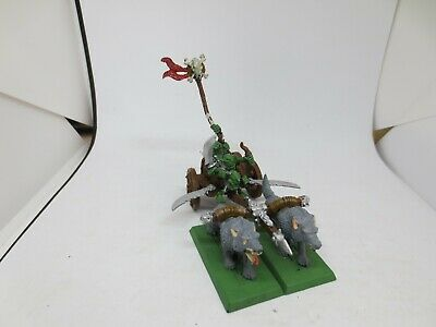 Warhammer Orcs And Goblins Wolf Chariot Metal Painted A A02 • 29.99£
