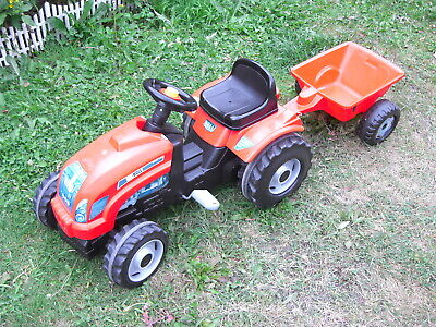 Smoby Pedal Tractor & Trailer • 45£