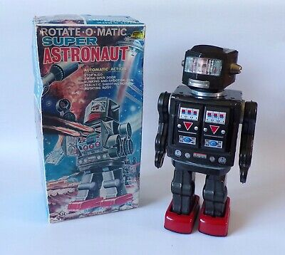 Vintage 1960's Horikawa Rotate-o-Matic Super Astronaut Japan Robot Space Tin Toy • 500£