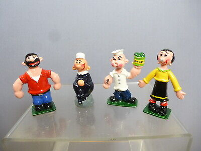 Unicorn ?  Hand Painted Diecast Model Set Of    Four Popeye Figures   • 65£