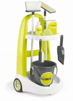 Childrens Cleaner Roleplay Cart Smoby Kids Cleaning Trolley Set & Accessories • 53.95£