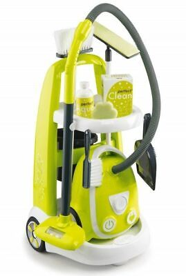 Smoby Childrens Cleaning Cart Kids Vacuum Cleaner & Service Trolley *fast Del* • 44.95£