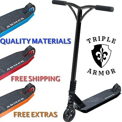 Stunt Scooter Pro Push Kick Trick Scooters Triple Armor Big Discounts Today • 64.99£