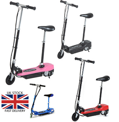 Electric Scooter Kids Battery Ride On Stand Escooter Adjustable Removeable Seat • 79.99£