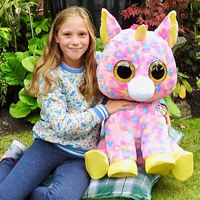 TY Beanie Boos Extra Large 26in (66cms) - Fantasia The XL Unicorn Multicoloured • 95£