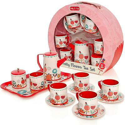 Milly & Ted Carry Case Teaset Childrens Pretend Play Food Kitchen Picnic Toy • 13.99£