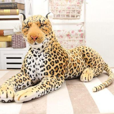 87CM Doll Xmas Gift Giant Large Simulation Leopard Plush Soft Toy Stuffed Animal • 34£
